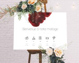 Flower of Life - Panneau de bienvenue mariage