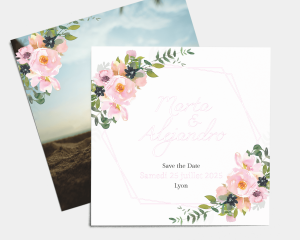 Fiore - Save the Date carte mariage