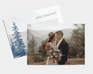 Painted Mountains - Carte de remerciements mariage petit format