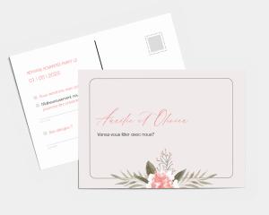 Aurora - Carte-réponse pour mariage (horizontale)
