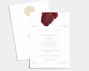 Flower of Life - Carte d´invitation au mariage (verticale)