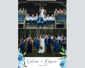 Blue Romance - Affiche de mariage (verticale)