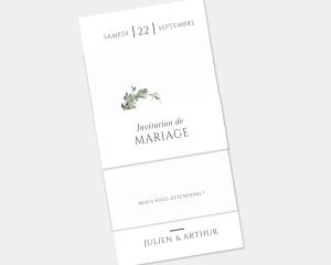 Leafy Hoops - Faire-Part mariage 3 ensemble