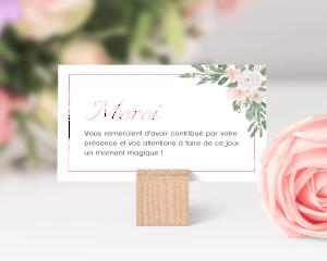 Ancona - Carte de remerciements mariage petit format