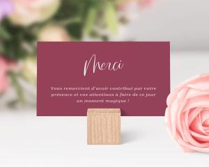 Beloved Floral - Carte de remerciements mariage petit format