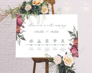 Blooming Botanical - Panneau de bienvenue mariage