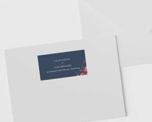 Blooming Botanical - Étiquettes d'adresse pour enveloppes