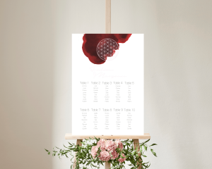 Flower of Life - Plan de Table 50x70 cm (vertical)