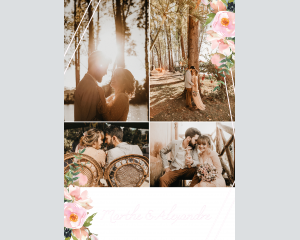 Fiore - Affiche de mariage (verticale)