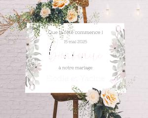 Bloom - Panneau de bienvenue mariage