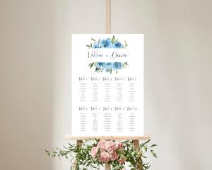 Blue Romance - Plan de Table 50x70 cm (vertical)