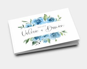 Blue Romance - Livre d´or mariage