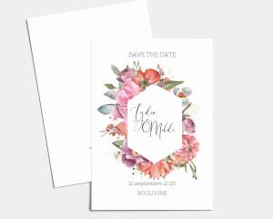 Estiva - Save the Date carte mariage (vertical)