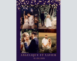 Elegant Glow - Affiche de mariage (verticale)