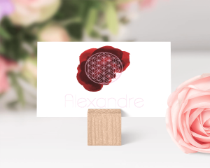 Flower of Life - Marque-place mariage