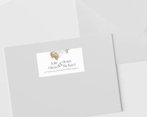 Ivory Luna - Étiquettes d'adresse pour enveloppes