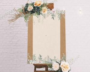 Claire - Panneau de bienvenue mariage (vertical)