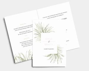Erba della Pampas - Faire-part mariage Carte pliante (verticale)