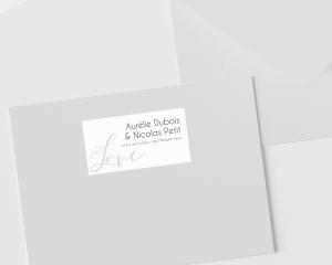 Just - Étiquettes d'adresse pour enveloppes