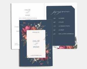 Blooming Botanical - Faire-Part mariage avec insert
