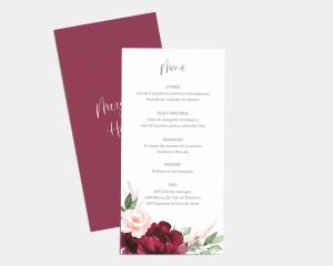 Beloved Floral - Carte de Menu (langue)