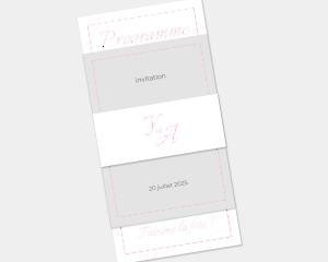 Kalligraphie - Faire-Part mariage 3 ensemble