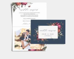 Blooming Botanical - Carte de remerciements mariage avec Photo