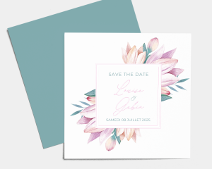 Blumengold - Save the Date carte mariage
