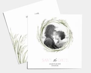 Erba della Pampas - Save the Date carte mariage