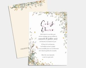 Fairytale - Carte d´invitation au mariage (verticale)