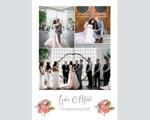 Estiva - Affiche de mariage (verticale)