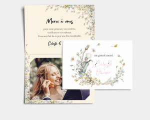 Fairytale - Carte de remerciements mariage avec Photo