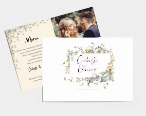 Fairytale - Carte de remerciements mariage petit format
