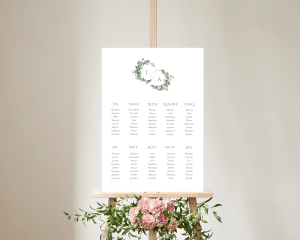 Leafy Hoops - Plan de Table 50x70 cm (vertical)