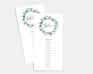 Blue Romance - Plan de Table 1 - 10