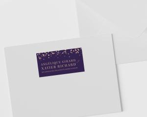 Elegant Glow - Étiquettes d'adresse pour enveloppes