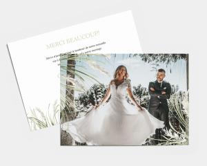 Erba della Pampas - Carte de remerciements mariage petit format
