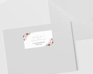 Fiore - Étiquettes d'adresse pour enveloppes