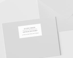 Leafy Hoops - Étiquettes d'adresse pour enveloppes