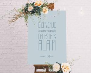 Together - Panneau de bienvenue mariage (vertical)