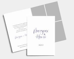 Beloved Floral - Carte de remerciements mariage carte pliée (verticale)