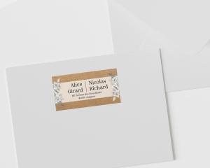 Claire - Étiquettes d'adresse pour enveloppes