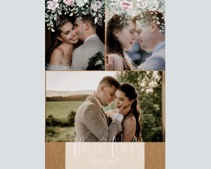 Claire - Affiche de mariage (verticale)