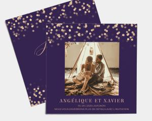 Elegant Glow - Save the Date carte mariage