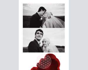 Flower of Life - Affiche de mariage (verticale)