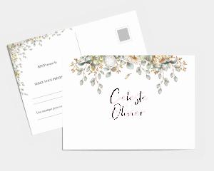 Fairytale - Carte-réponse pour mariage (horizontale)