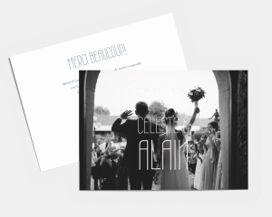 Together - Carte de remerciements mariage petit format