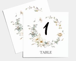 Fairytale - Numéros de table carré ensemble 1-10