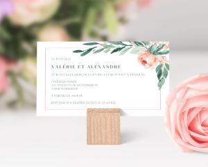 Gilded Botanical - Faire-part mariage petit format