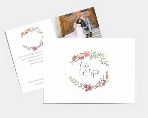 Estiva - Carte de remerciements mariage petit format